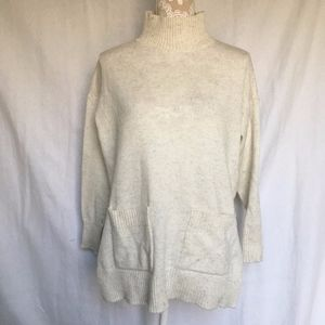 Ann Taylor / Factory Mockneck Pocket Sweater Tunic